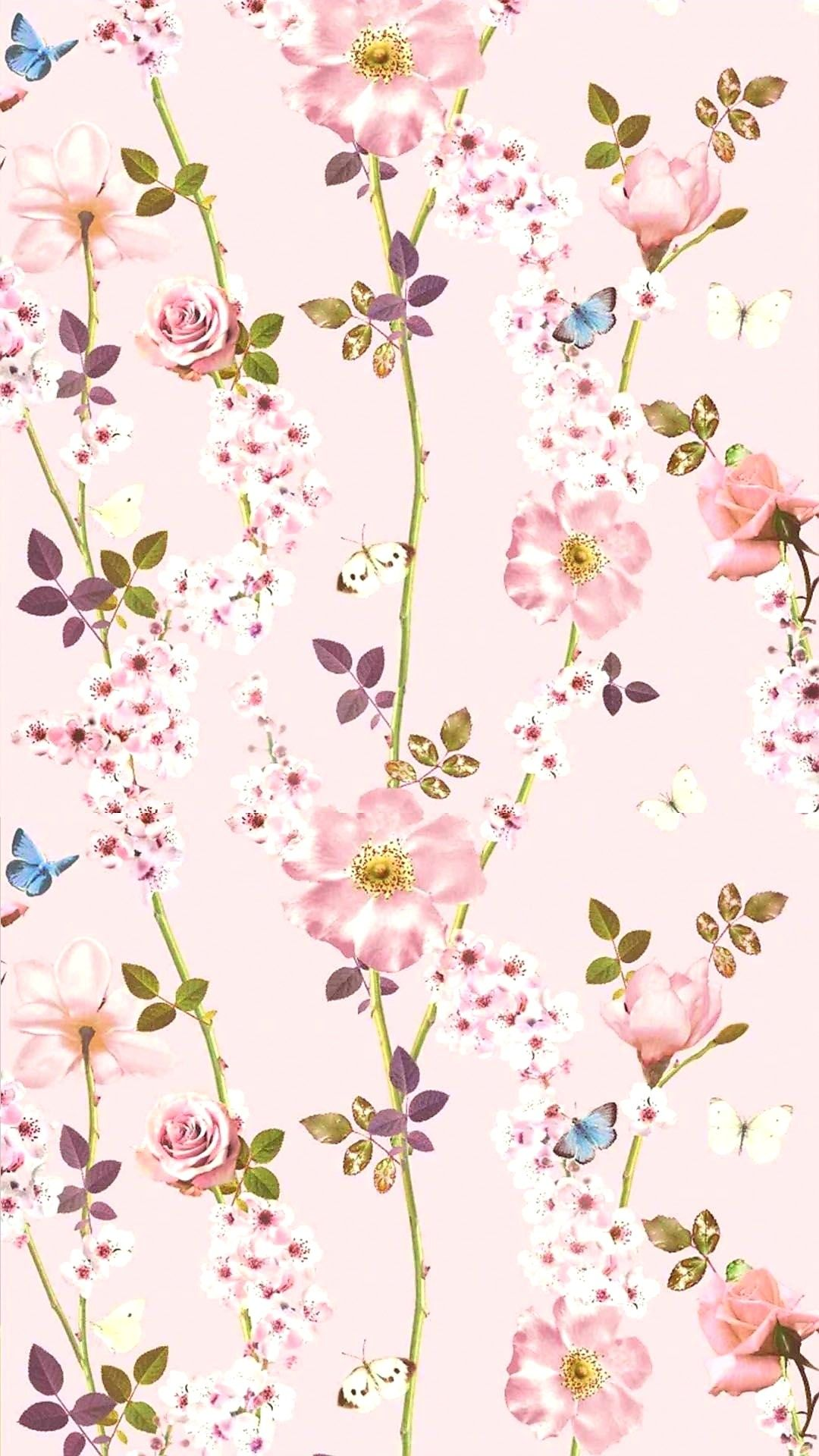 Pink Flowers Iphone Wallpaper Pattern Pink Floral Wallpaper