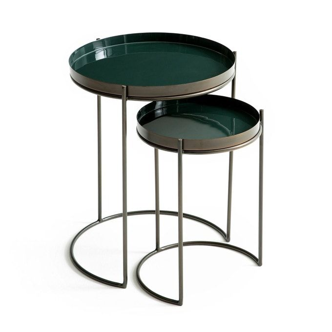 Lot De 2 Bouts De Canape Metal Picabea Bout De Canape Metal Bout De Canape Table De Chevet