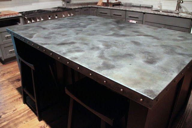 Zinc countertop with bar stools zinc countertop for Zinc countertop cost