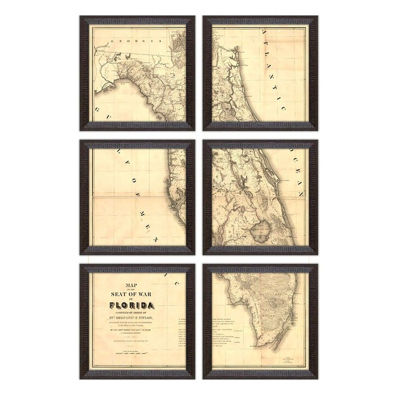 24x36 map divided into 6 12x12 frames. So easy and cheap.   For the ...