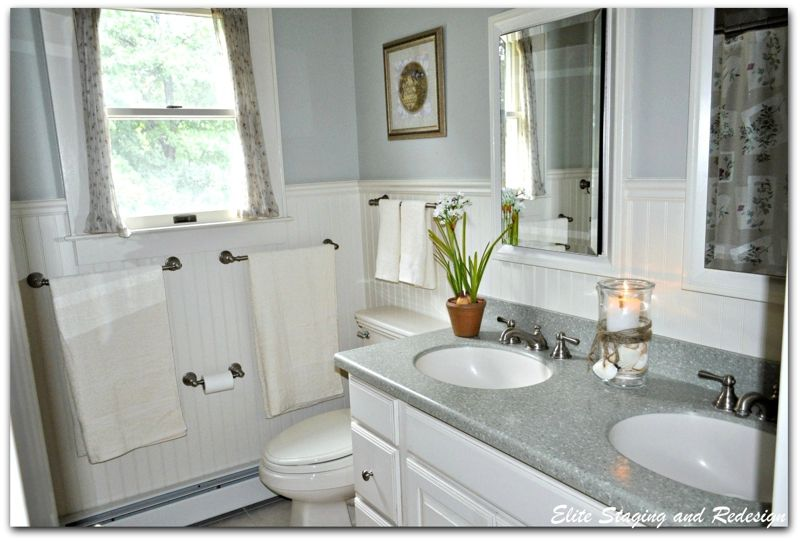 5 Budget Bathroom Transformations By A Morris County Stager Bathroom Transformation Budget Bathroom Bathrooms Remodel