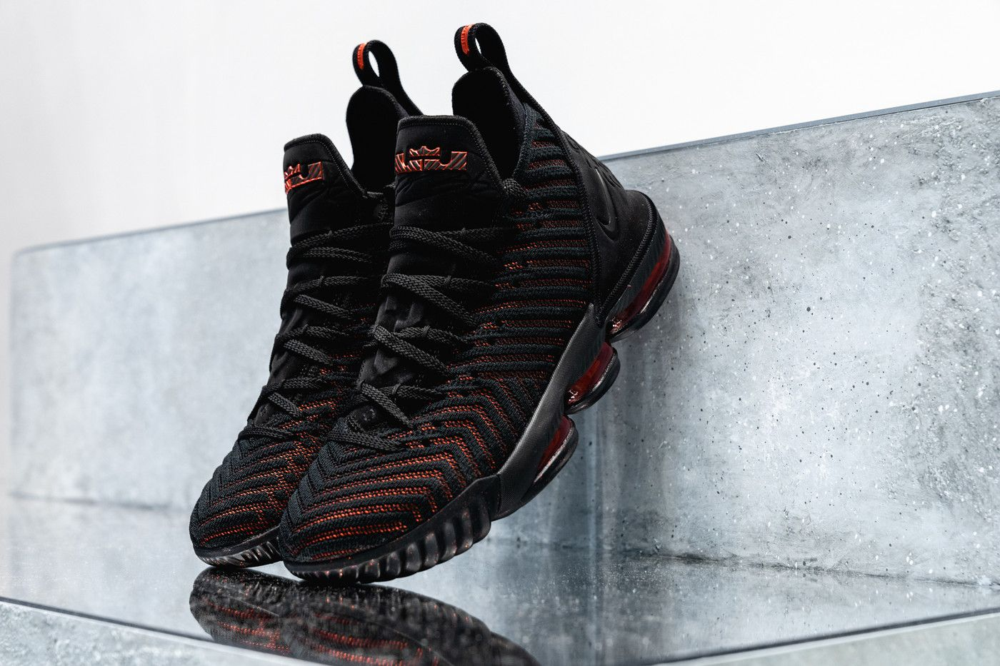 promo code 1ad43 502f3 nike lebron 16 nike basketball lebron james footwear black red 2018 los  angeles lakers nba