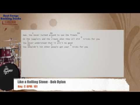 Like a Rolling Stone - Bob Dylan Drums Backing Track with chords and ...