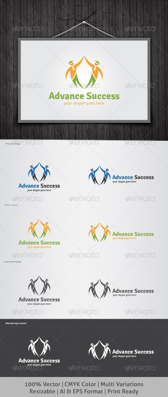 Advance Success Logo  #GraphicRiver         It's Good Looking Simple logo Template. It's used Any kind's of Company to related this idea.  Featured: 	 	 AI CS3 Document 		 EPS CS Document 		 CMYK – 100 % Vector (Re-sizable) 		 8 Variations 	  Free Fonts used: Myriad Pro You Can Download Here:  .cufonfonts /en/font/492/Myriad-pro     Created: 5April13 GraphicsFilesIncluded: VectorEPS #AIIllustrator Layered: Yes MinimumAdobeCSVersion: CS Resolution: Resizable Tags: advance #advancement…