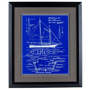 Ship blueprint framed wall art lake house pinterest framed ship blueprint framed wall art malvernweather Image collections
