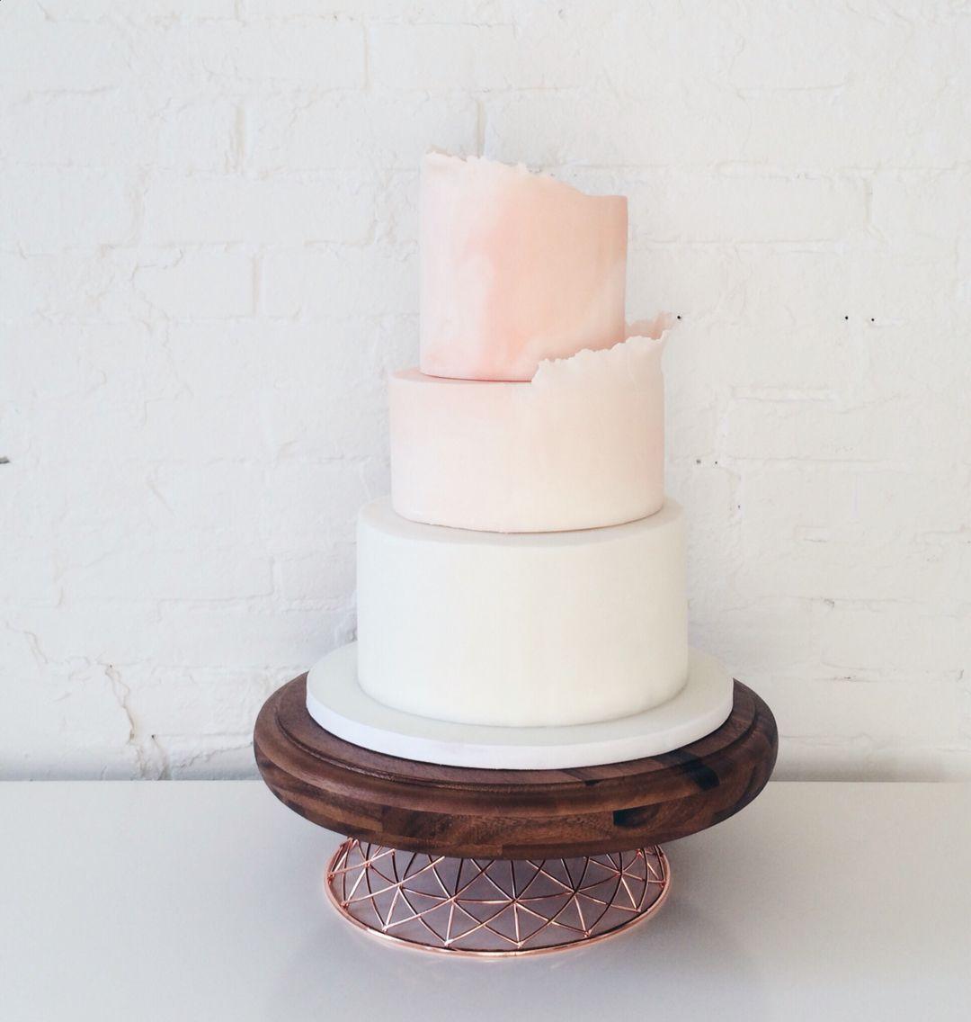 Cake Clean And Modern Blush Wedding