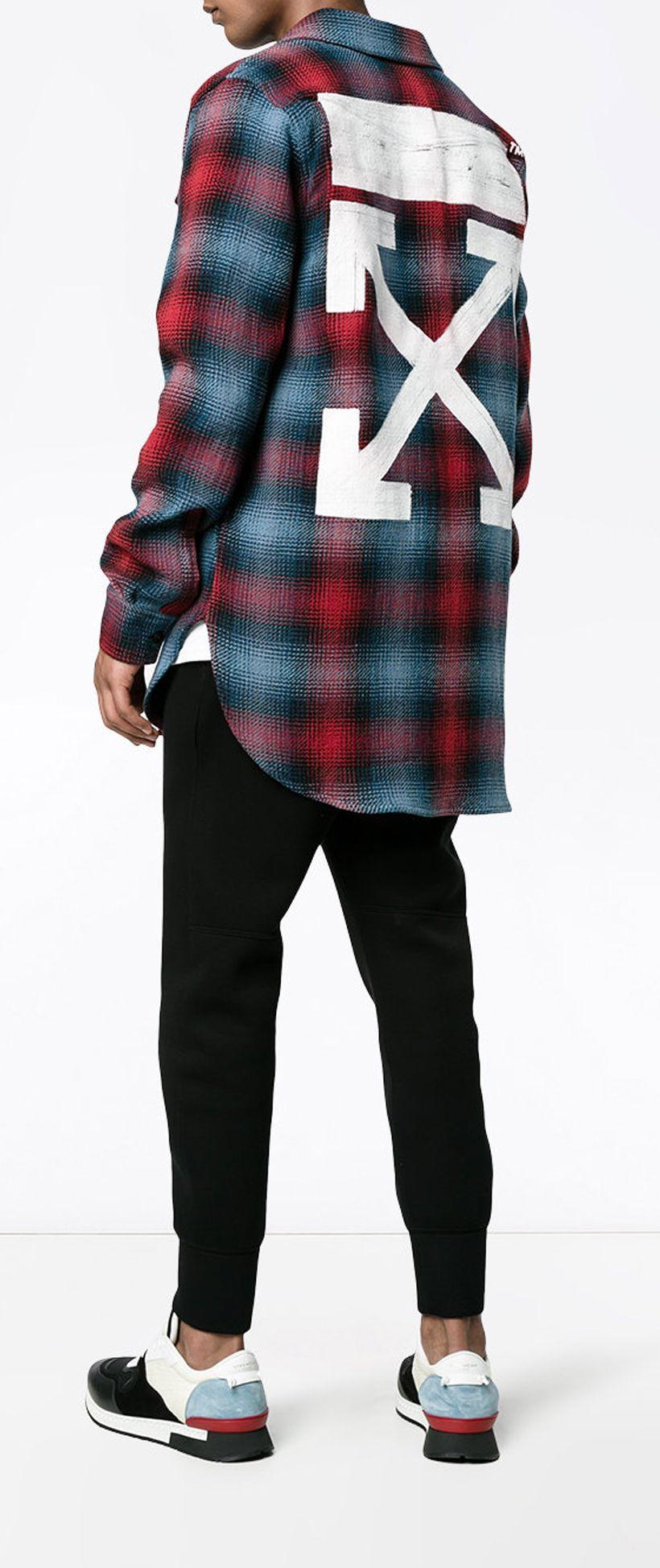 a16fb4836fc7 OFF-WHITE Brushstroke Plaid Shirt