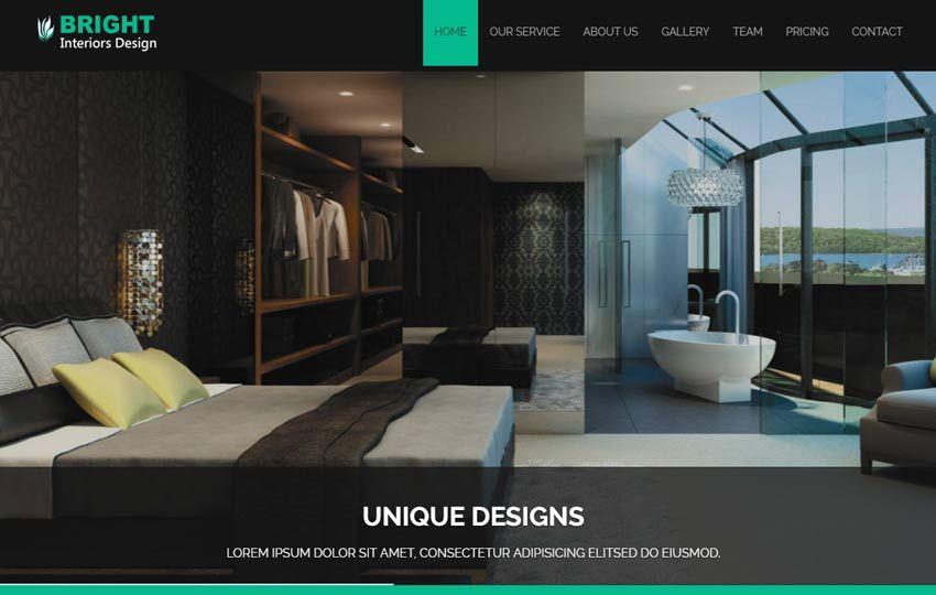 interior design websites templates