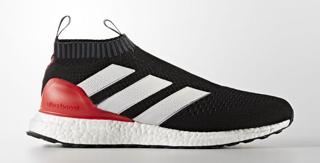 adidas pure stivali nero and red