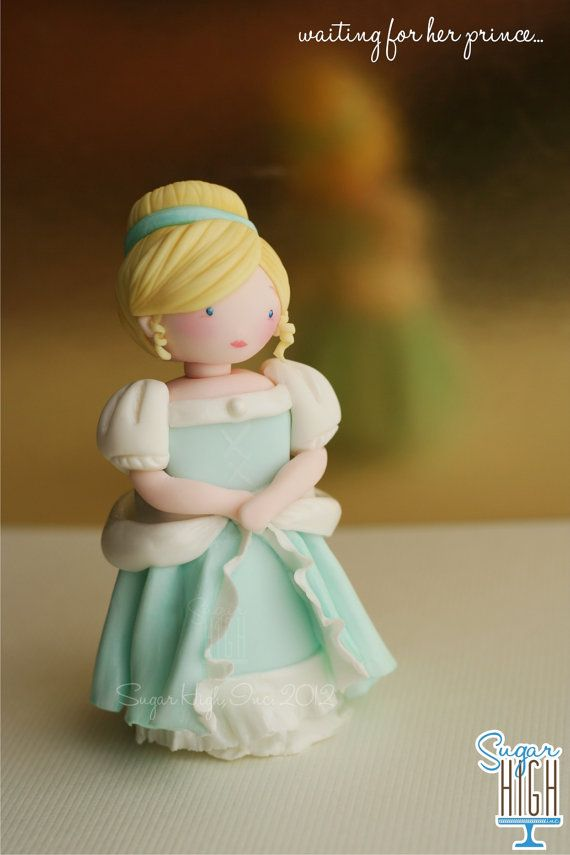 Cinderella Inspired Fondant Cake Topper by SugarHighInc on Etsy