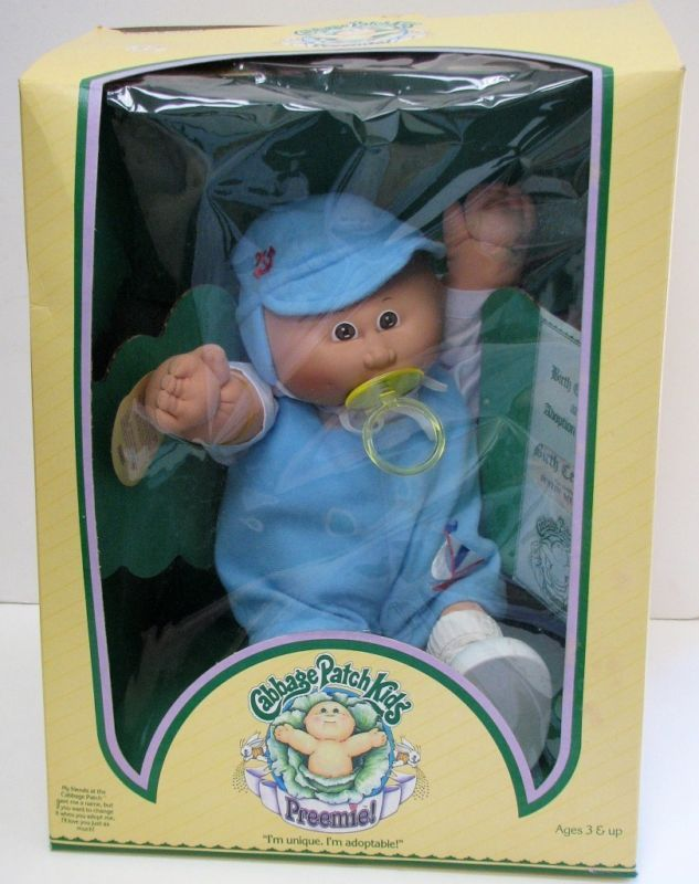 1983 Cabbage Patch Kids Cpk Preemie Pacifier Bald Boy
