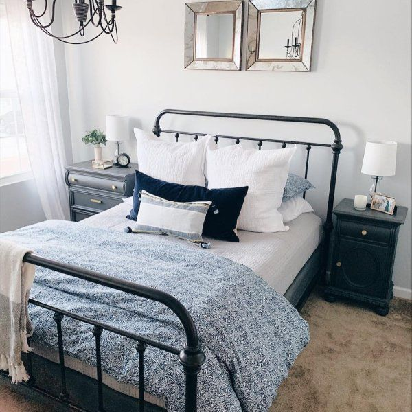 Best Coleman Metal Bed King White Finish Pottery Barn Beds 400 x 300
