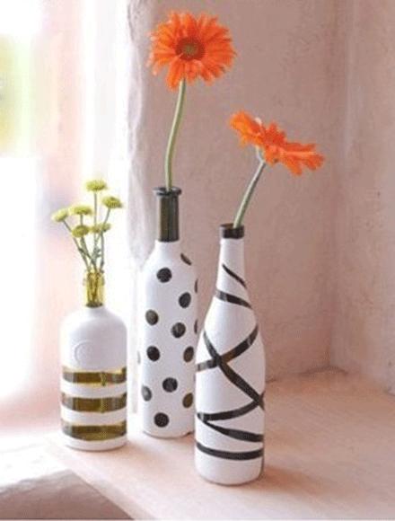 Como pintar una botella de vidrio por fuera imagui for Ideas para reciclar botellas de vidrio