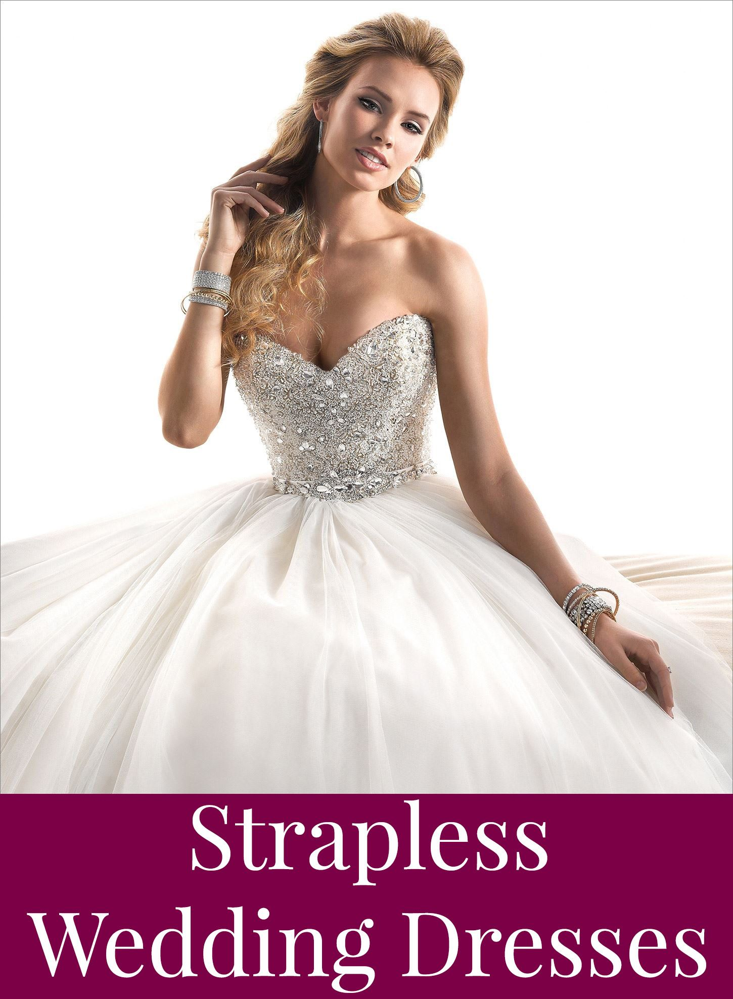 Find the right strapless wedding dress for you!