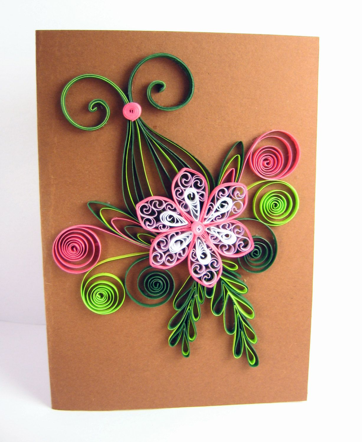 Quilled birthday card handmade paper greeting quilling floral for friend congratulations thank you also best advancdf images on pinterest and rh