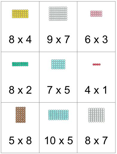 Tafelwerkje Bij De Decanomische Kist Montessorinet Montessori Math Montessori Lessons Montessori Materials