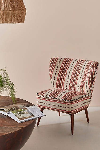 Best Anthropologie Striped Rug Printed Accent Chair Accent 400 x 300