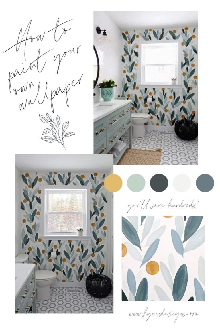 How To Paint Over Wallpaper In A Bathroom Diy Fynes Designs In 2020 Painting Over Wallpaper Bathroom Makeover Bathroom Colors