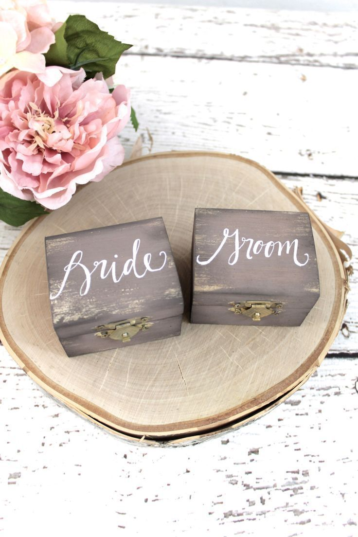 rustic wedding ring boxes. | Tying a knot | Pinterest | Wedding ring ...