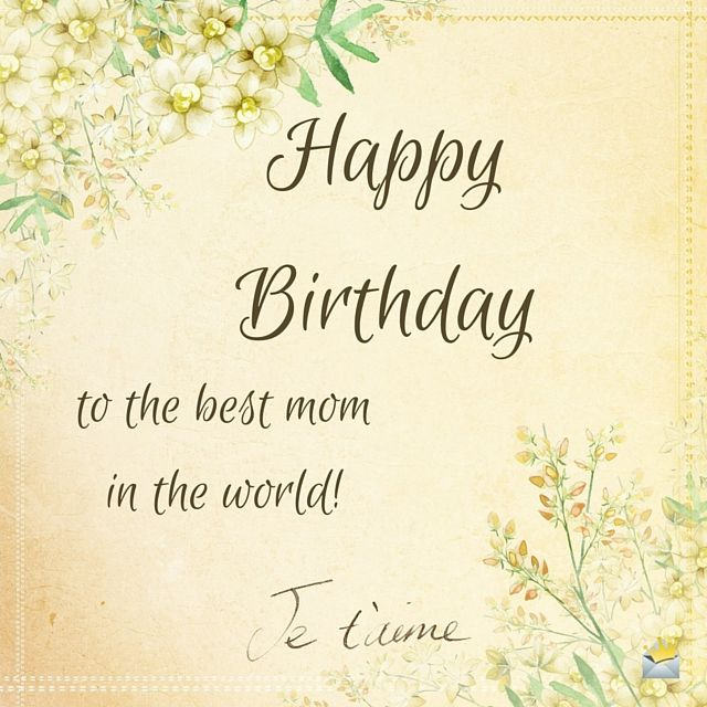 Happy Birthday Wishes Mom ~ Love you mom happy birthday messages and
