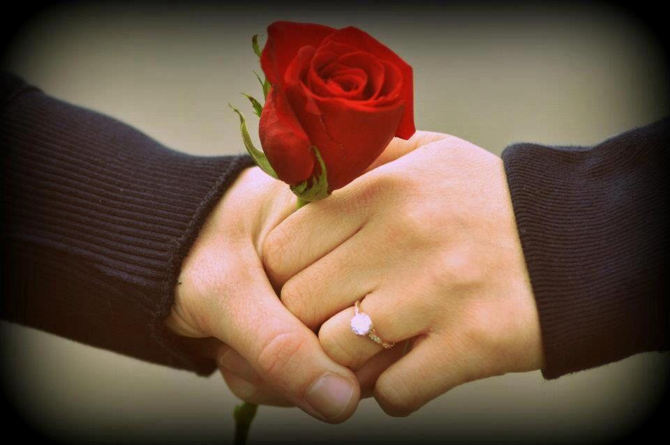 Engagement ring - rose gold !