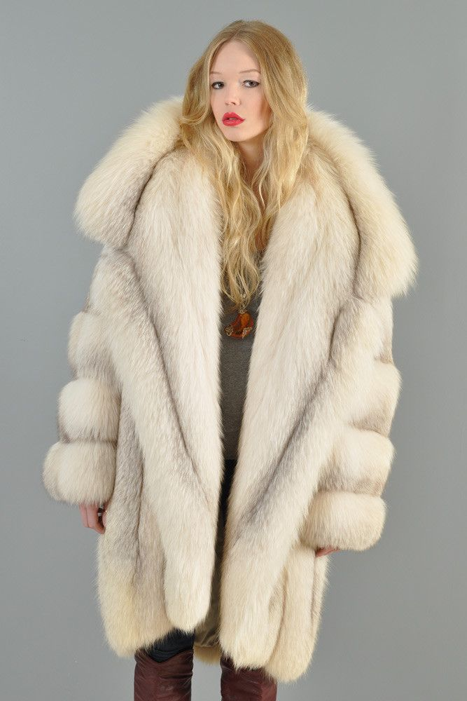 Claude Montana Shadow Fox Fur Coat | BUSTOWN MODERN | Fur ...