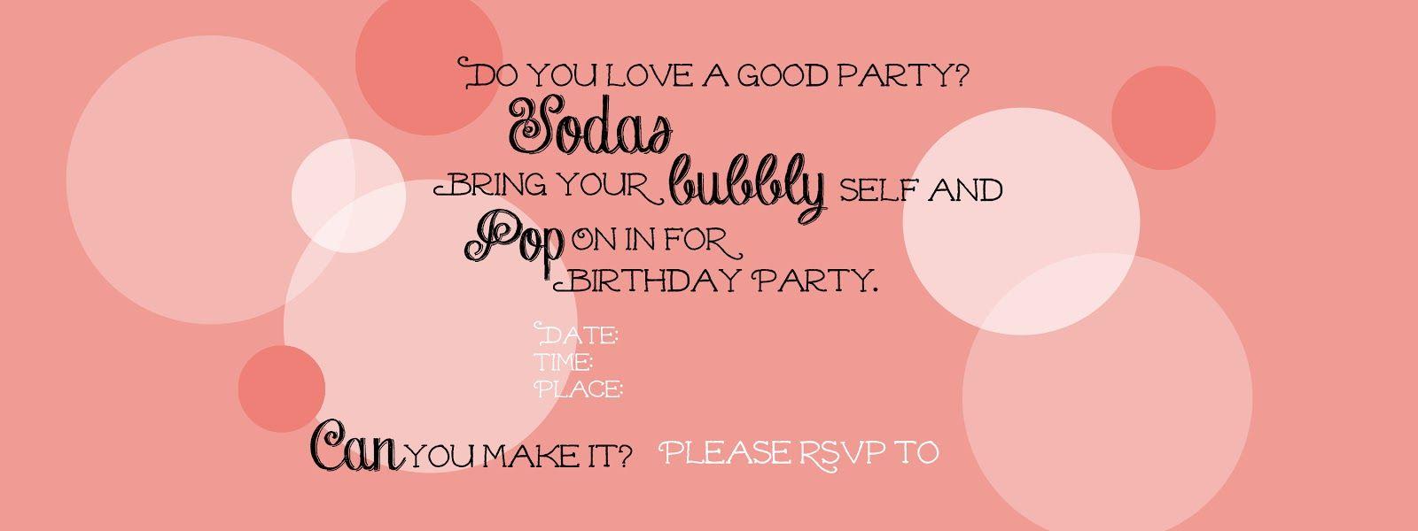 Soda Can Party Invitation {FREE Printable!}   Soda, Party ...