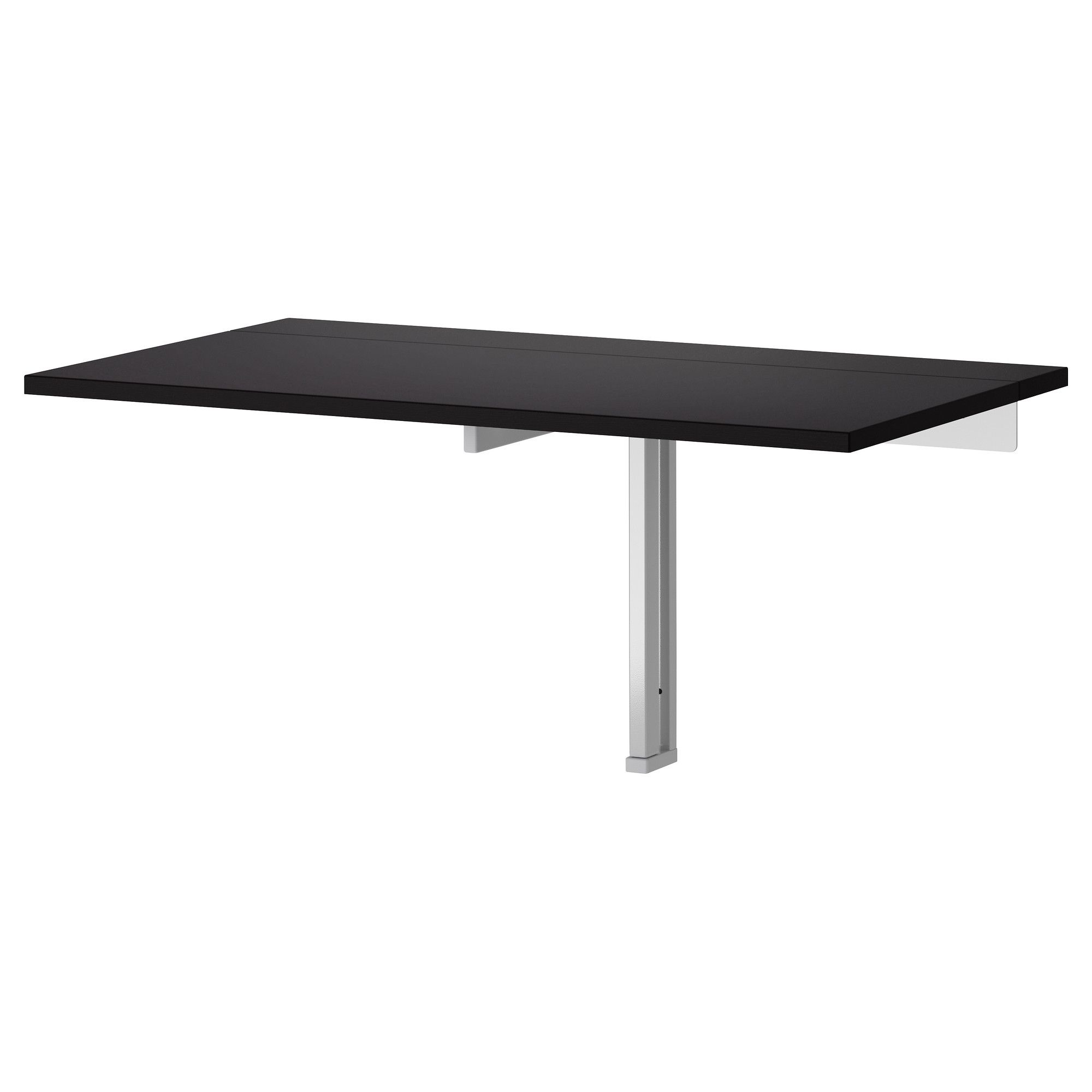 WALL MOUNTED FOLD OUT TABLE FOR OUR SMALL KITCHEN WHEN WE WANT A SIT DOWN  DINNER OR HAVE GUESTS BJURSTA Wall Mounted Drop Leaf Table   Brown Black    IKEA