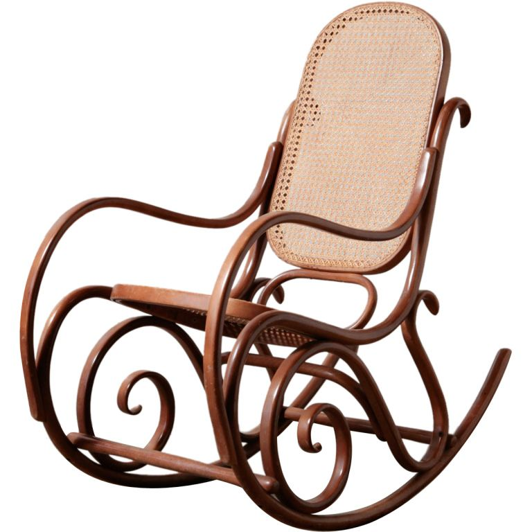 View This Item And Discover Similar Rocking Chairs For Sale At   Bentwood Rocking  Chair, With Caned Seat.