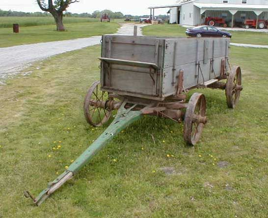 Old Wagon Gears : Wooden wagon with steel wheels garden focal points
