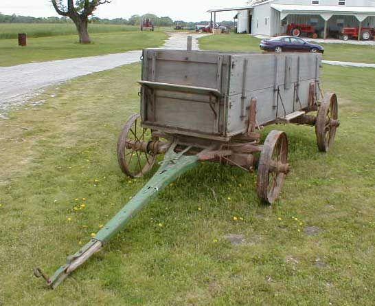 Wooden Wagon With Steel Wheels Farm Wagons Wooden Wagon