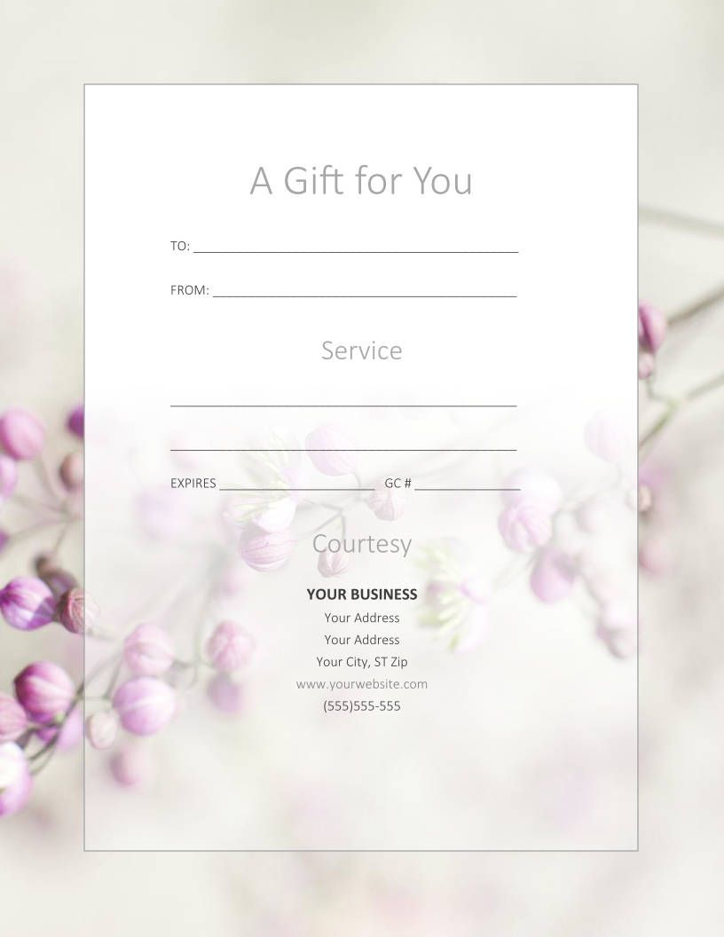 Free Gift Certificate Templates For Massage And Spa Free Gift Certificate Template Gift Card Template Spa Gift Certificate
