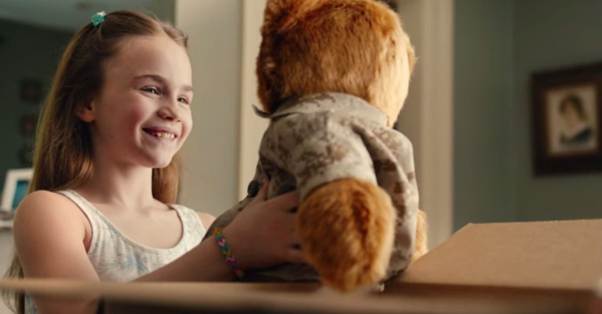 A new ad from Duracell spotlights the story of a young girl who relied on a teddy bear for the sound of her dad's voice while he was deployed overseas.