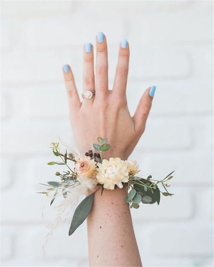 O- wrist corsage bracelet in VERNON, NY | Marys4everflowers #corsages
