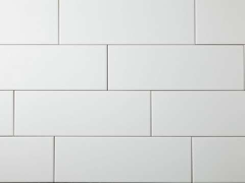 matt white subway tiles boundless bathroom tiles pinterest. Black Bedroom Furniture Sets. Home Design Ideas