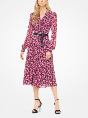 MICHAEL Michael Kors Carnation Georgette Shirtdress | Shirtdress, Carnation  and Stilettos