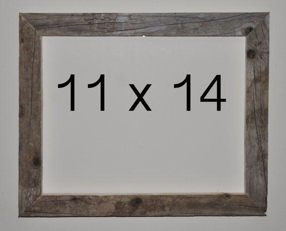 12 X 18 Driftwood Picture Frame 147 Etsy Frame Picture Frames Handmade Frames