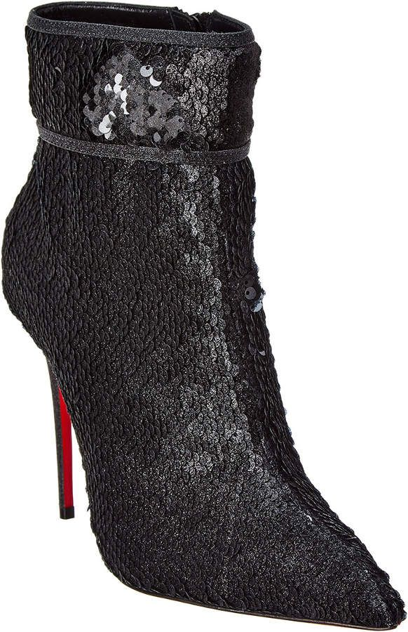 6f0499a8f1d6 Christian Louboutin Moulakate 100 Sequin Bootie
