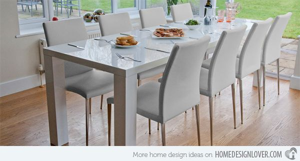 15 Perfectly Crafted Large Dining Room Table Designs Large