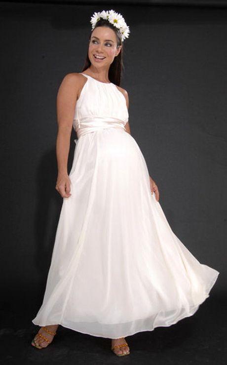 Vestido de novia embarazada para matrimonio civil