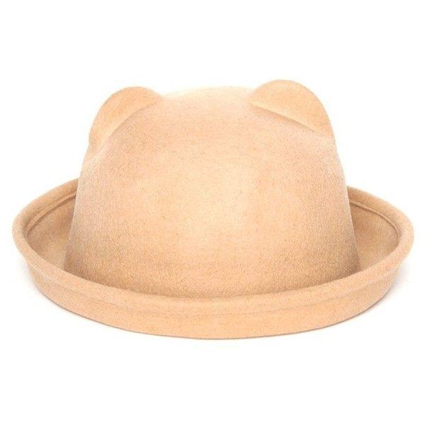 Jodi Beige Cat Ear Bowler Hat Prettylittlething Com Beige Hat Cat Ears Hat Bowler Hat