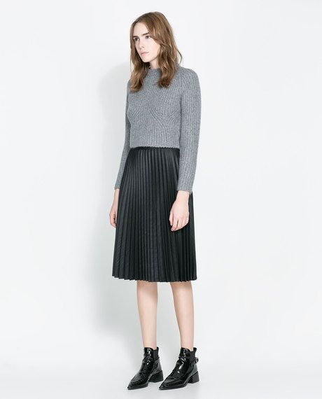 3b818ef76 Pleated Midi Skirt - Lyst | outfit inspiration | Pleated Skirt ...