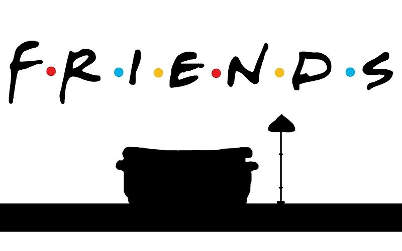 Friends TV show logo w/ couch and lamp from the theme song