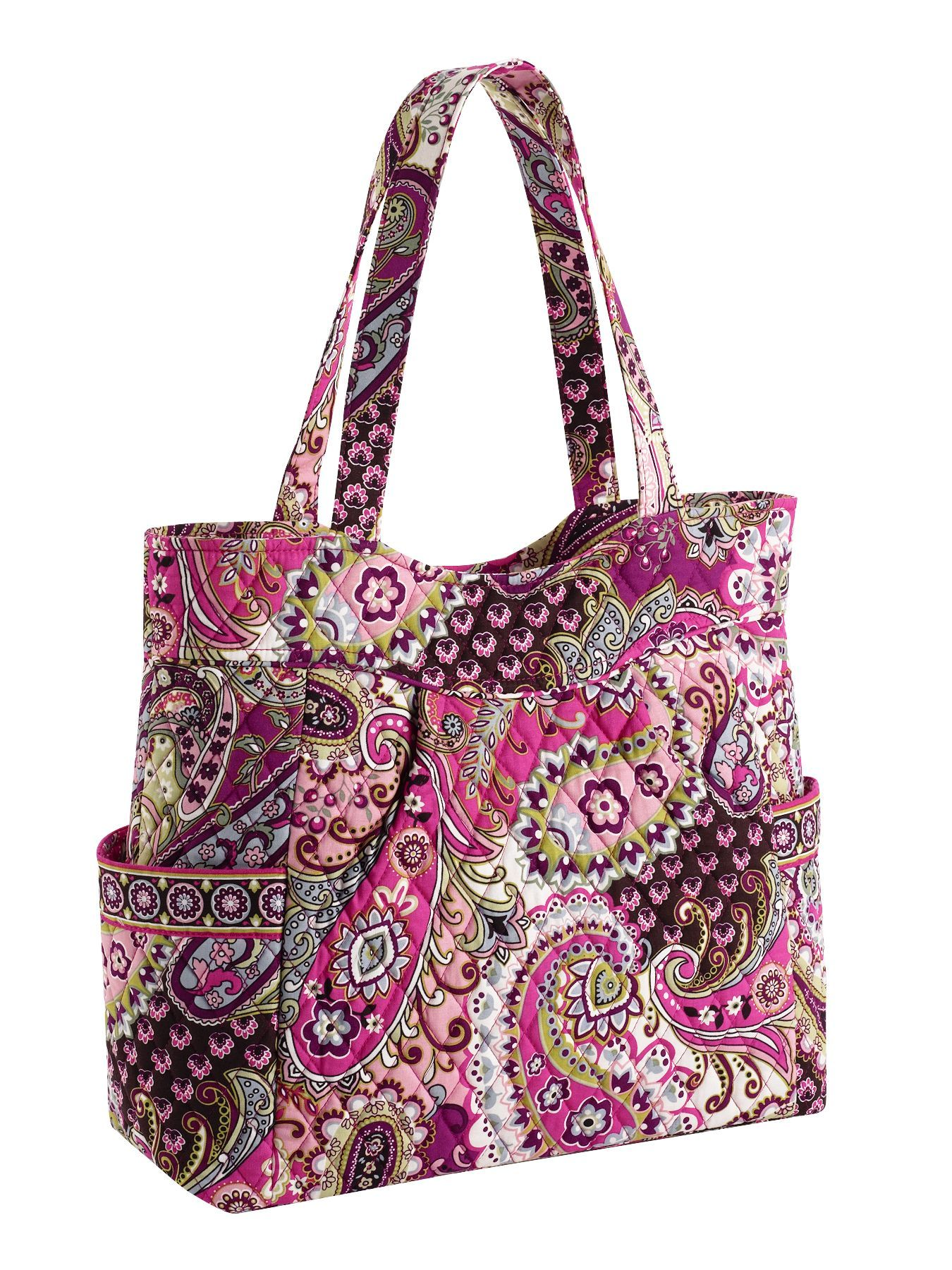 72024e931b Vera Bradley pleated tote in Very Berry Paisley. My new knitting bag ...
