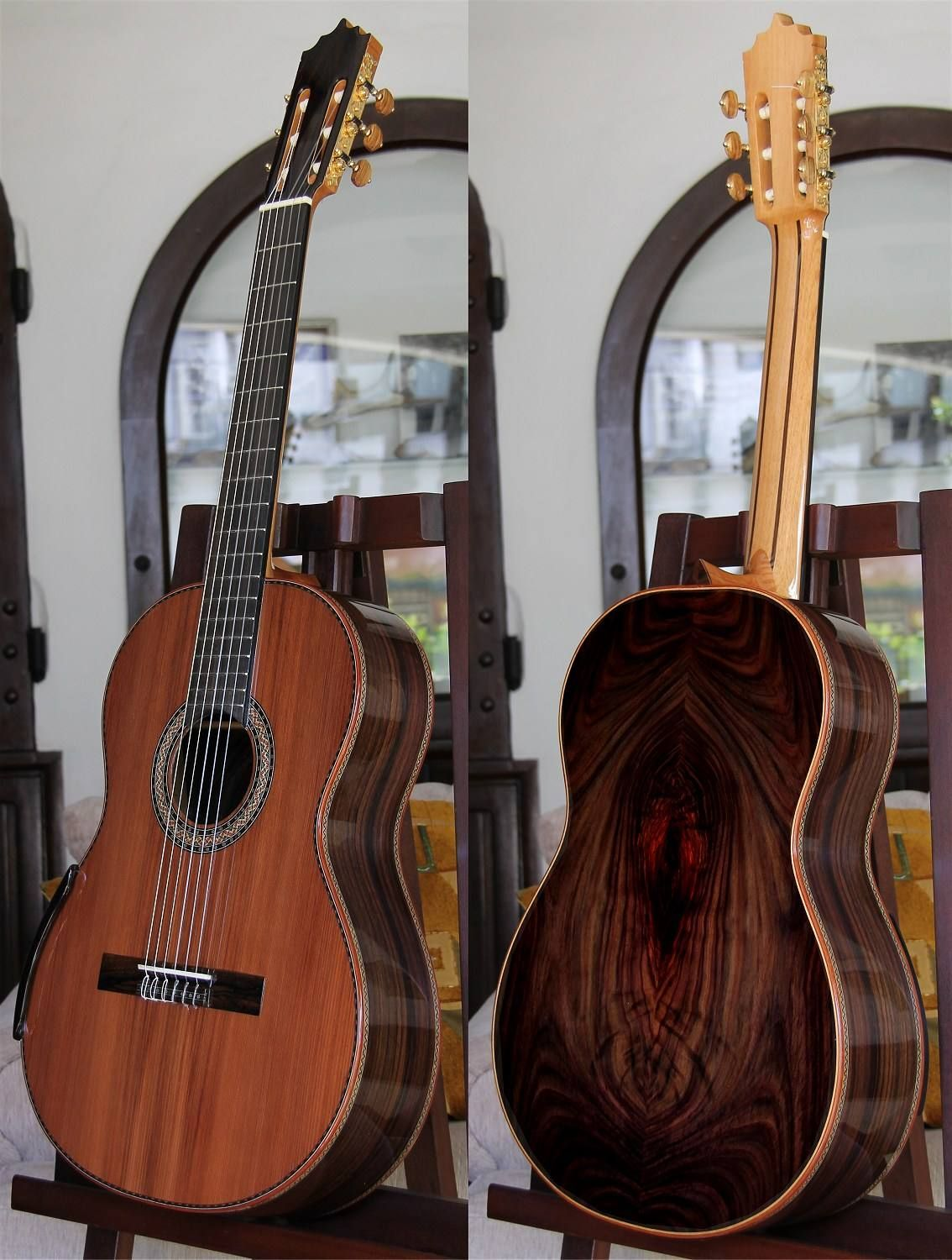 Pin By Bellucci Guitars On Highly Figured Indonesian Rosewood B S Guitar Classical Guitar Indonesian