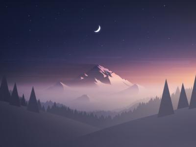 Vector Mountain Wallpaper Free Download By Mrusta Via Dribbble