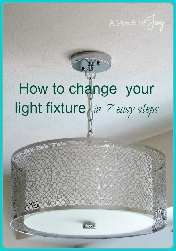 how to change light fixtures in 7 easy steps a pinch of 17661