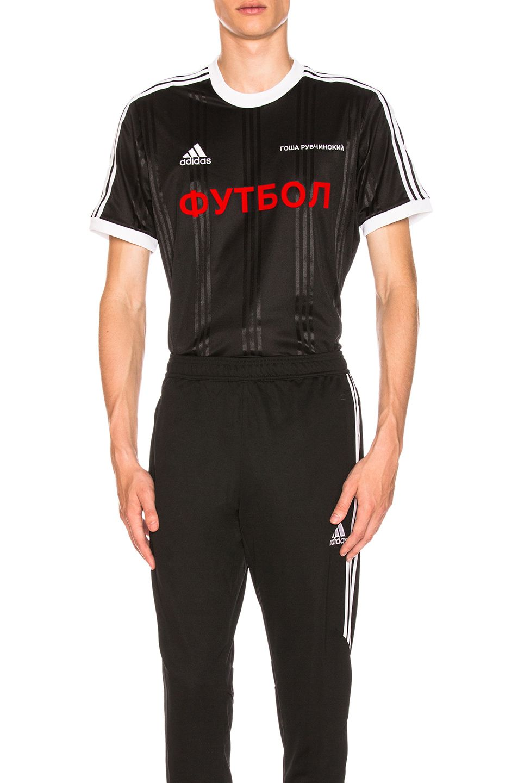 black adidas originali edizione t - shirt georgij rubchinskiy uomini