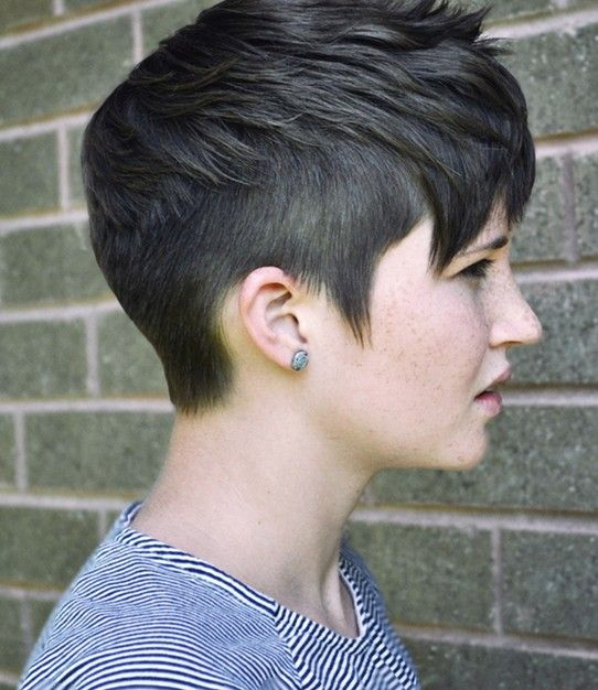30 Chic Pixie Haircuts: Trendy Short Hairstyle for 2014 - love the super short sides for summer!