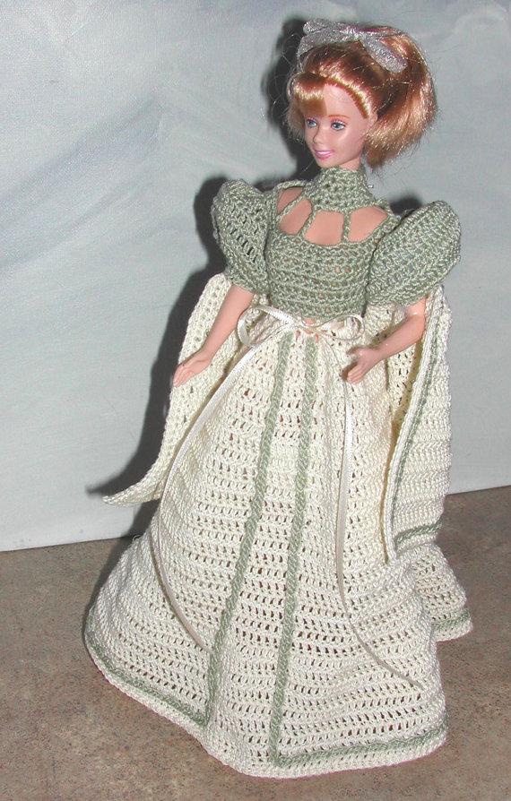Crochet mode poupée Barbie patron 693 MISS par JudysDollPatterns ...